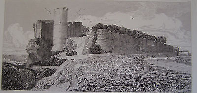 Original Etching - Castle of Falaise 1821 by JOHN SELL COTMAN.