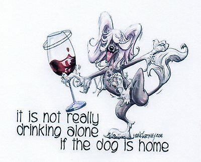 Chinese Crested Crystal Wine Glass by McCartney