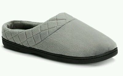 Dearfoams Women's Quilted Velour Clog Slippers Size L(9-10)