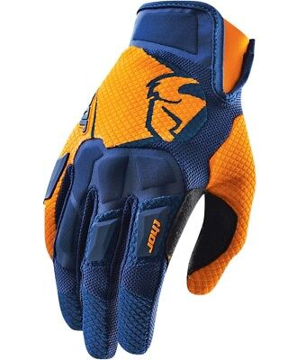 Thor Handschuhe Flow Navy Orange Blau 2017 Gr. XL Motocross BMX Downhill Enduro