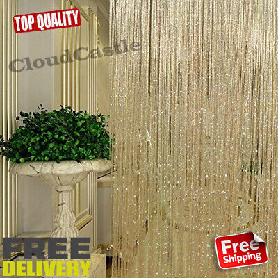 String Door Curtain Beads Room Divider Window Panel Tel Crystal Fringe Beaded