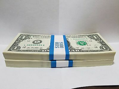 10 Unc Consecutive Sequential $1 Dollar Bills FRN from District L San Francisco
