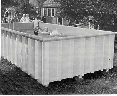 HowTo Build Swimming Pool Home Backyard Swimming Plywood Easy To Build #417