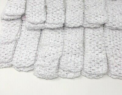 Wholesale Girls Baby Crochet Headband With 1.5 inch Acrylic White color