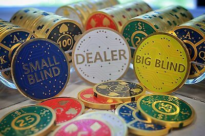 Blinds and Dealer Chips Poker Gold pt.