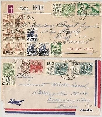 2 Covers Mexique Mexico To Europe. L637