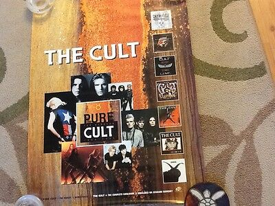 The CULT poster!! Cool collage photo excellence! Promo only !!18x24