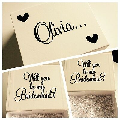 Personalised 'Will You Be My Bridesmaid?' Gift Box - Empty Padded Present Box