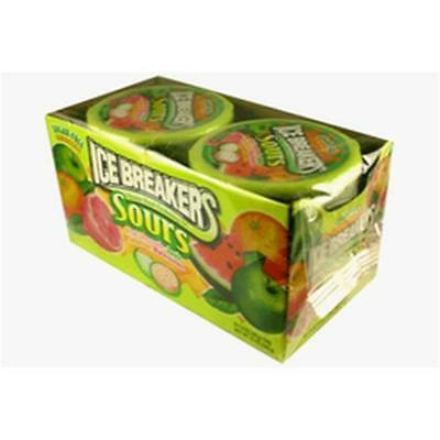 Ice Breakers Sours - Green Apple, Watermelon, Tangerine - Sugar Free (8x42g)