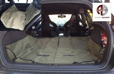 Heavy Duty Boot Liner-Rear Seat Protector 2In1 For Skoda Octavia Estate 13-On
