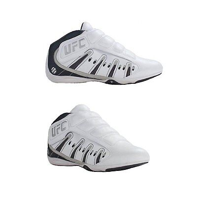 New UFC Ultimate Training MMA Sparring Lightweight Shoes White/Silver  Size 6