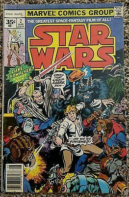 Star Wars 2 Rare 35 Cent Price Variant August 1977 Marvel Comics 1St Han Solo Fn