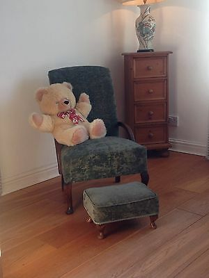 Nursery Chair With Matching Footstool