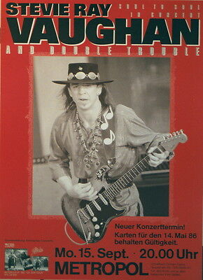 Stevie Ray Vaughan Concert Tour Poster 1986 Soul To Soul
