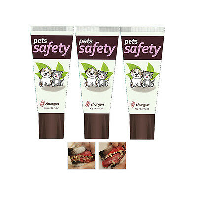 Lot of 3 Dog Toothpaste Edible Sprinkle Toothpaste Safety Natural Ingredient
