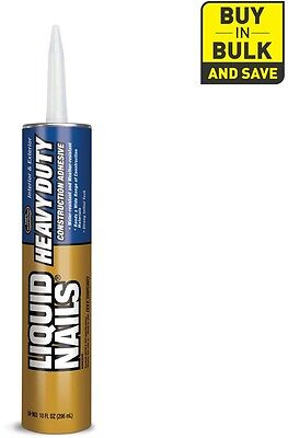 New LIQUID NAILS Heavy Duty Construction Adhesive Durable and Flexible Excellent