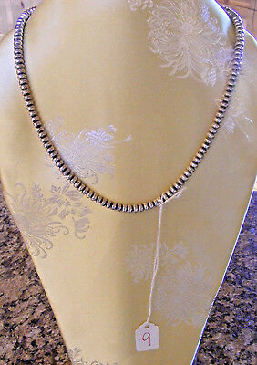 """Navajo Sterling silver pearls  22""""  necklace"""