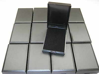 20 New Black Hinged Gift Boxes With Insert Great For Necklaces, Earrings, Ect