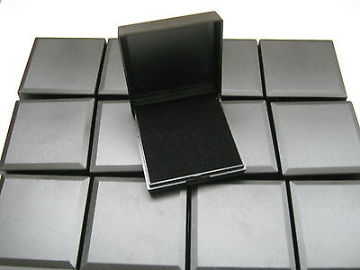 50 Black Hinged Gift Boxes With Insert For Pendants, Earrings, Necklaces, Ect