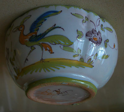 Gorgeous Vintage Majolica Signed Colorful Hand Painted Small Bowl