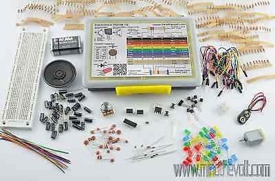 Electronics Starter Kit All In One 476 pc's, Project Kit, Components Selection