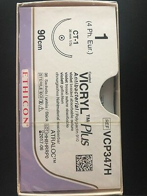 Nahtmaterial Ethicon Vicryl Coated Plus  1,VCP347H