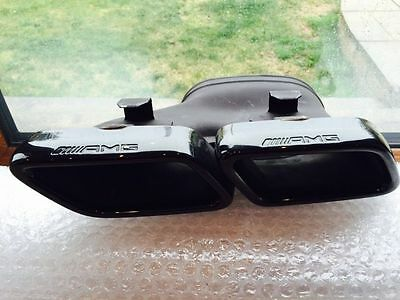 Mercedes C63 AMG Black Series Exhaust Tail Pipe Tips C Class W204