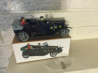 Open Air Tourist Touring Convertible Tin Litho Toy Clockwork Mechanism  DL