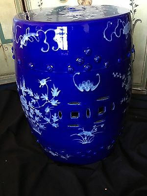 A Beautiful Antique Oriental Chinese Porcelain Blue & White Garden Stool