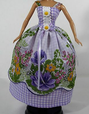 Barbie Doll Vintage Reproduction Dress Hanckie Couture New Clothes Accessories