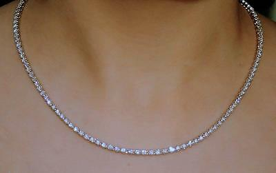 Diamond Tennis Necklace 14k White Gold 5.00ct Eternity Natural Clear Sparkle USA