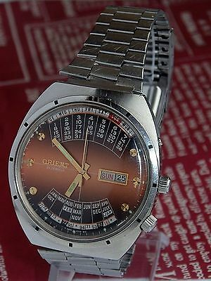 ORIENT COLLEGE VINTAGE MENS AUTOMATIC watch Made in Japan Day & Date