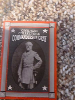 Civil War Collector's Cards Commanders in Gray 25 card set