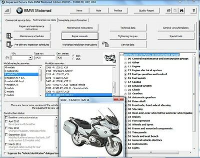2005-2013 BMW R 1200 RT ( R1200RT K26 ) RepROM Service Manual on a DVD