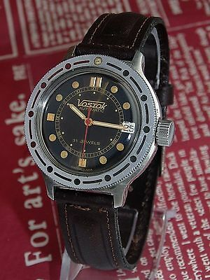 VOSTOK AMPHIBIA  DATE  VINTAGE MENS AUTOMATIC  watch Made in RUSSIA