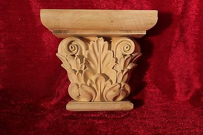 Decorative Carved  Wooden Corbels birch wood pair 2x