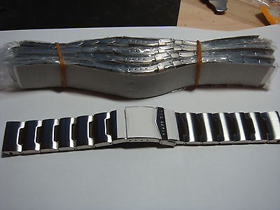 TRADE  JOB LOT OF 50 GENUINE MIX NAMES Stainless Steel WATCH STRAPs