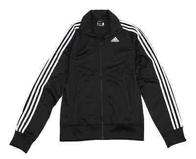 Adidas Mens 3S Long Sleeve Black Soccer Fitness Track Top Jackets S88116