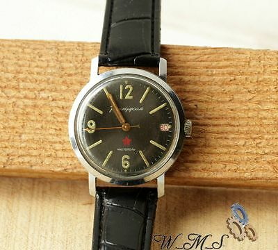USSR  VOSTOK  Old  Soviet Stop Seconda Mens WristWatch Vintage Rare Collecting ж