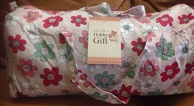 Groves Hobby Gift Knitting / Craft Bag Pale Pink With Flowers New
