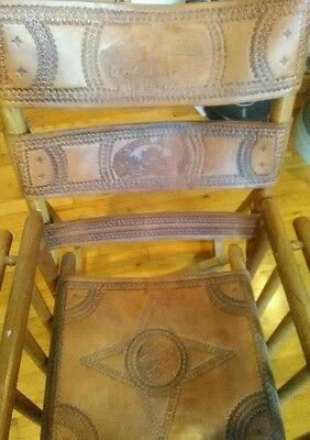 Costa Rican Rocking chair hand crafted leather and wood