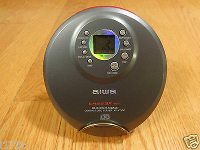 Aiwa XP-V710C Portable Compact Disc Player CD-R/RW TESTED 100% Works Great!