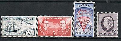 Stamps  New Zealand - Ross Dependency 1967 Set Of 4 (Mnh/mlh)  Nz 49