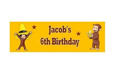 Personalised Chocolate Candy Bar Wrapper - Curious George