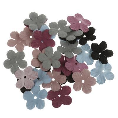 30pcs velluto misto Flower Patch Bow Appliques Hairband Wedding Decoration
