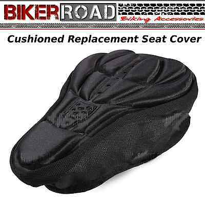 BIKER Road Bicycle 3D Breathable Saddle Padded Silicone Cushion  -  BLACK