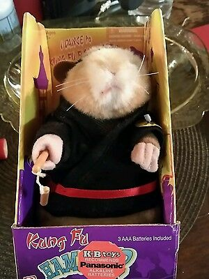 """2001 Gemmy """"Kung Fu Hamster"""" - Dances & Sings - NEW IN BOX (RARE)"""
