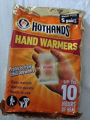 Hothands Hand Warmers 5 Pairs Pack *10 Sachets*