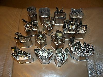 14 CUTTERS - Catering Commercial Heavy Duty Stainless Steel Cookie Dough Veg.