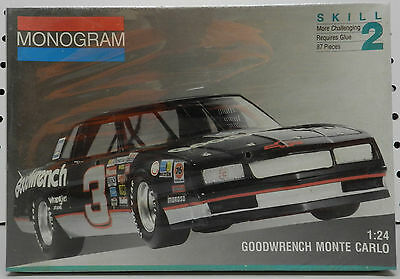 Goodwrench 1988 Chevy Monte Carlo 3 Dale Earnhardt Monogram 210 Sealed Model Kit